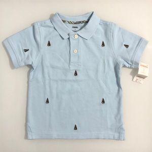 GYMBOREE Sailboat Short Sleeve Polo Shirt